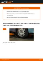 PDF replacement tutorial: Sway bar links FIAT PUNTO (188) rear and front