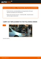 Auto mechanic's recommendations on replacing FIAT Fiat Punto Mk2 1.2 16V 80 Oil Filter