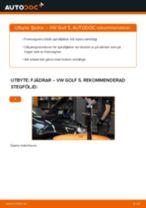 Byta fjädrar fram på VW Golf 5 – utbytesguide