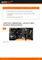 Montering Støtdempere VW GOLF V (1K1) - steg-for-steg manualer