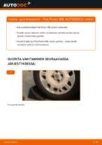 Kuinka vaihtaa pyöränlaakerit taakse Fiat Punto 188-autoon – vaihto-ohje