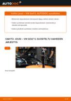 Vaihda VW Etujouset ja takajouset itse - käsikirja verkossa