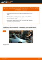 Príručka o výmene Tlmič pruzenia v FIAT PUNTO vlastnými rukami