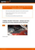 Jak vyměnit přední a zadní Pružina tlumiče NISSAN udělej si sám - online návody pdf