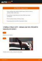 Jak vyměnit přední stírací lišty na Nissan Leaf ZE0 – návod k výměně
