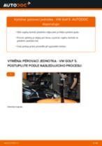 Jak vyměnit přední pérovací jednotka na VW Golf 5 – návod k výměně