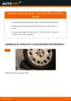 Kako zamenjati avtodel kolesni ležaji zadaj na avtu Fiat Punto 188 – vodnik menjave
