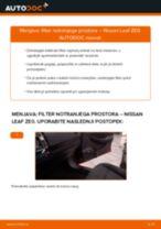 PDF priročnik za zamenjavo: Filter notranjega prostora NISSAN LEAF