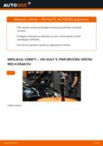 Kako zamenjati avtodel vzmeti spredaj na avtu VW Golf 5 – vodnik menjave