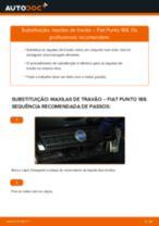 Como mudar maxilas de travão da parte traseira em Fiat Punto 188 - guia de substituição