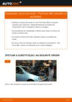 Como mudar discos de travão da parte dianteira em Fiat Punto 188 - guia de substituição