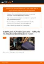 Como mudar filtro habitáculo em Fiat Punto 188 - guia de substituição