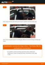 Como mudar escovas do limpa vidros da parte dianteira em Fiat Punto 188 - guia de substituição