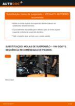 Como mudar molas de suspensão da parte dianteira em VW Golf 5 - guia de substituição