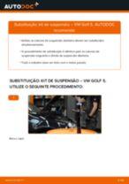 Como mudar kit de suspensão da parte dianteira em VW Golf 5 - guia de substituição