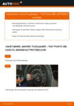 Online tasuta juhised kuidas vahetada Lisakomplekt, Ketaspidurikate FIAT PUNTO (188)