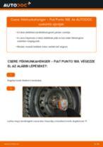 Online ingyenes kézikönyv - Munkahenger FIAT PUNTO (188) csere