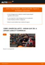 Cseréljünk Lengéscsillapító NISSAN LEAF: felhasználói kézikönyv