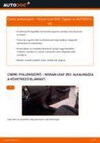 NISSAN LEAF javítási és kezelési útmutató pdf