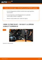 VW GOLF V (1K1) Spirálrugó beszerelése - lépésről-lépésre útmutató