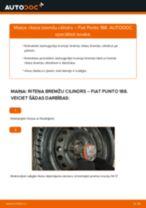 Riteņa bremžu cilindrs maiņa: pdf instrukcijas FIAT PUNTO