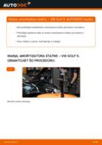 Kā nomainīt: priekšas amortizatora statni VW Golf 5 - nomaiņas ceļvedis
