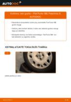 Rato guolis pakeitimas FIAT PUNTO (188) - patarimai ir gudrybės