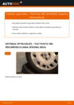 Kaip pakeisti ir sureguliuoti Rato stebulė FIAT PUNTO: pdf pamokomis