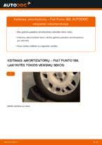 Žingsnis po žingsnio pakeiskite FIAT PUNTO (188) Amortizatorius PDF vadovas