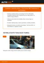 Pakeisti Rankinio Stabdžio Trosas FIAT PUNTO: instrukcija
