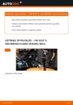 Kaip pakeisti ir sureguliuoti Spyruoklės VW GOLF: pdf pamokomis