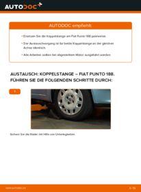 Wie der Wechsel durchführt wird: Koppelstange 1.2 60 Fiat Punto 188 tauschen
