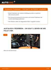 Wie der Wechsel durchführt wird: Stoßdämpfer 1.9 TDI Golf 5 tauschen