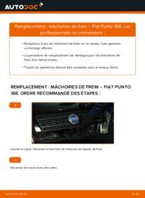 Comment effectuer un remplacement de Mâchoires De Frein sur 1.2 60 Fiat Punto 188