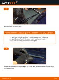 Comment effectuer un remplacement de Essuie-Glaces sur Elektrik NISSAN LEAF