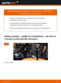 Comment effectuer un remplacement de Amortisseurs sur 1.9 TDI VW Golf V