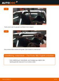 Hvordan man udfører udskiftning af: Viskerblade på 1.2 60 Fiat Punto 188