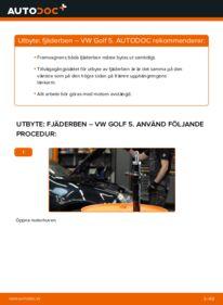 Så byter du Stötdämpare på 1.9 TDI Golf 5