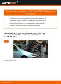 Jak przeprowadzić wymianę: Filtr powietrza w FIAT PUNTO
