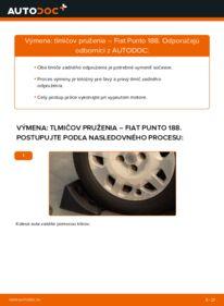 Ako vykonať výmenu: Tlmič pruzenia na 1.2 60 Fiat Punto 188