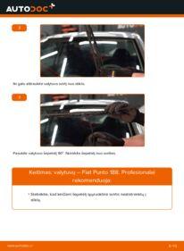 Kaip atlikti keitimą: 1.2 60 Fiat Punto 188 Valytuvo gumelė