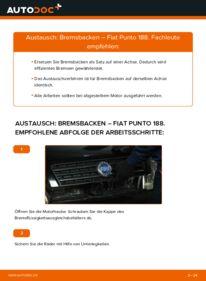 Wie der Wechsel durchführt wird: Bremsbacken 1.2 60 Fiat Punto 188 tauschen
