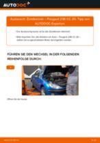 Wie Peugeot 206 CC 2D Zündkerzen wechseln - Anleitung