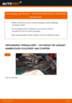 VW Schroefveren achter en vóór veranderen doe het zelf - online handleiding pdf