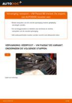 Hoe Schokbrekers veranderen en installeren VW PASSAT: pdf handleiding