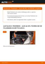 AUDI A6 (4F2, C6) Stoßdämpfer: Schrittweises Handbuch im PDF-Format zum Wechsel
