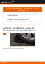 Wie Stoßdämpfer Satz Gasdruck beim AUDI A6 (4F2, C6) tauschen - Online-Anweisung