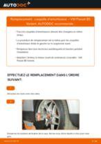 Comment changer : coupelle d'amortisseur avant sur VW Passat B5 Variant - Guide de remplacement