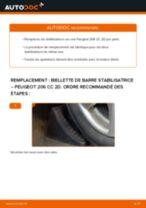 Comment changer : biellette de barre stabilisatrice avant sur Peugeot 206 CC 2D - Guide de remplacement