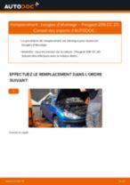 Comment changer : bougies d'allumage sur Peugeot 206 CC 2D - Guide de remplacement